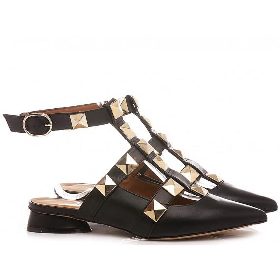 Mivida Women's Shoes Leather Black A0706