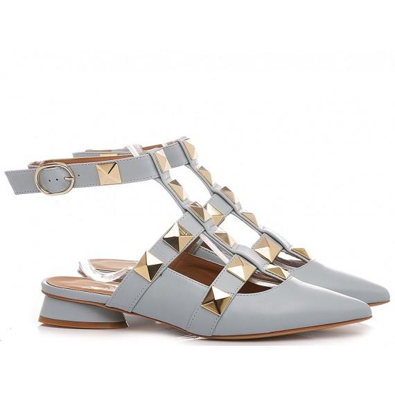 Mivida Women's Shoes Leather Light Blue A0706