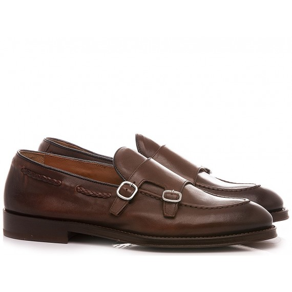 Doucal's Men's Shoes Loafers Leather Brown DU2617