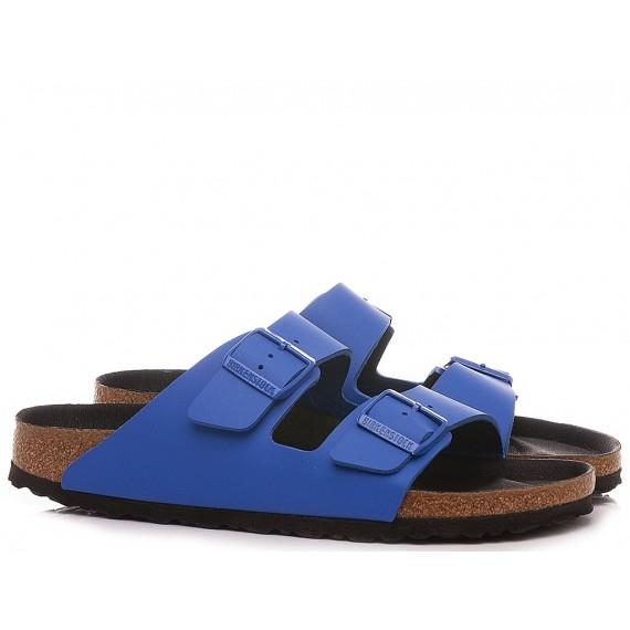 Birkenstock Sandalo-Ciabatta Uomo Arizona Pelle Ultra Blue