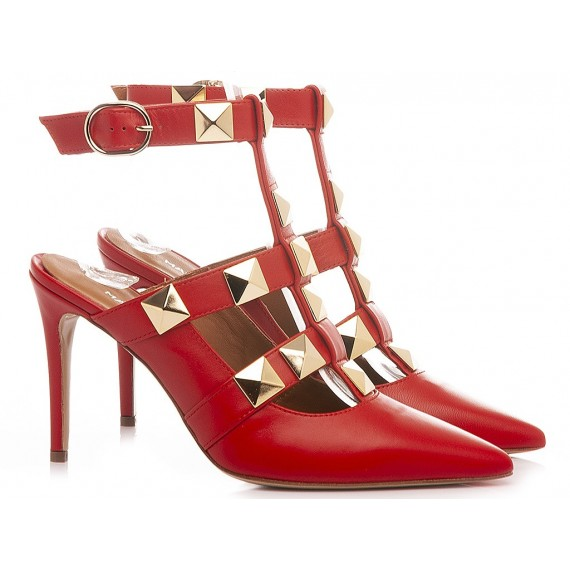 Martina T Women's Shoes Leather Red C902