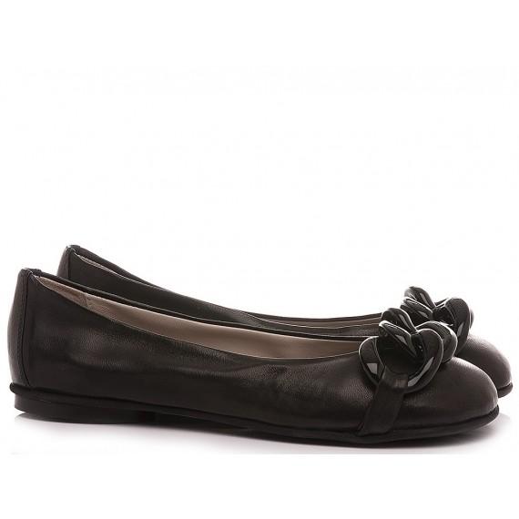 Poesie Veneziane Women's Ballerina Shoes Leather Black CJS42X