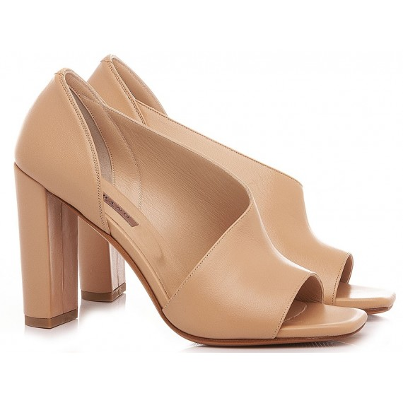 Albano Women's Sandals Leather Nude 4264
