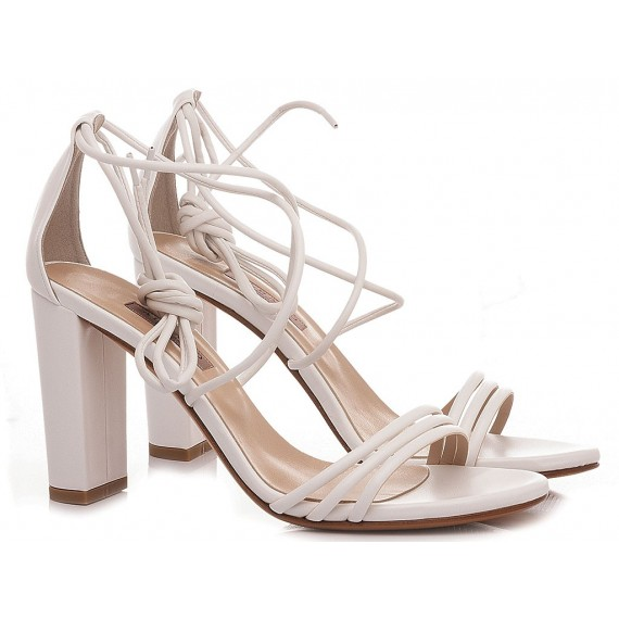 Albano Women's Sandals Leather White 8078