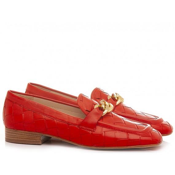 Maison Rarò Women's Shoes Loafers Leather Coral Candice-C