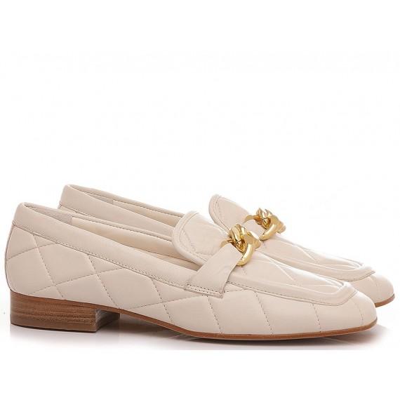 Maison Rarò Women's Shoes Loafers Leather Milk Angie-C