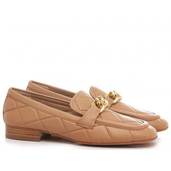 Maison Rarò Women's Shoes Loafers Leather Nude Angie-C