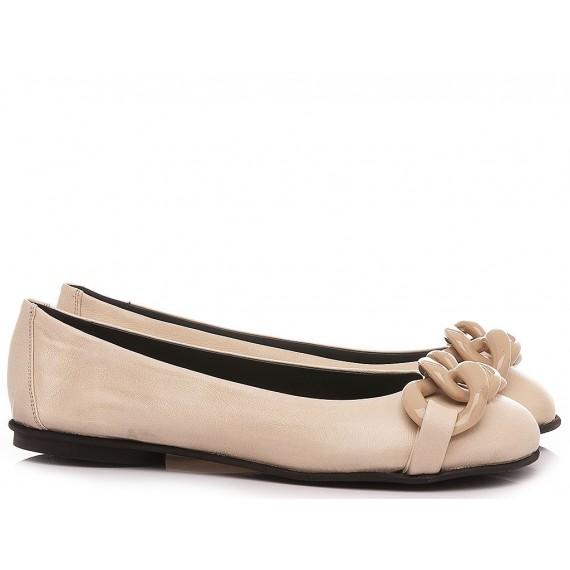 Poesie Veneziane Women's Ballerina Shoes Leather Sand CJS42X