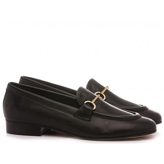 Maison Rarò Women's Shoes Loafers Leather Black Vivian-M