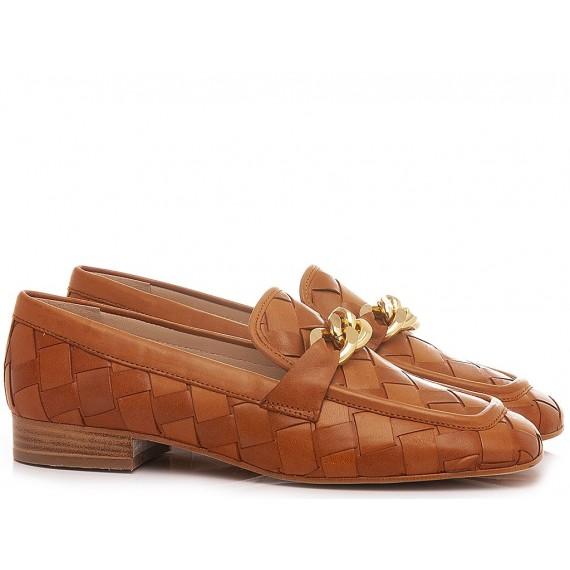 Maison Rarò Women's Shoes Loafers Leather Tan Candice-C