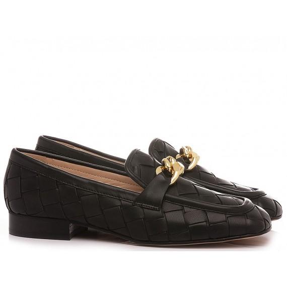 Maison Rarò Women's Shoes Loafers Leather Black Candice-C