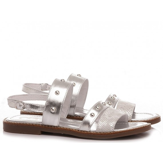 Ciao Girl's Sandals Leather Silver C3547
