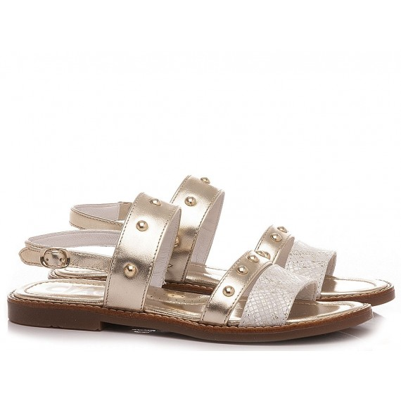Ciao Girl's Sandals Leather Platinum C3547