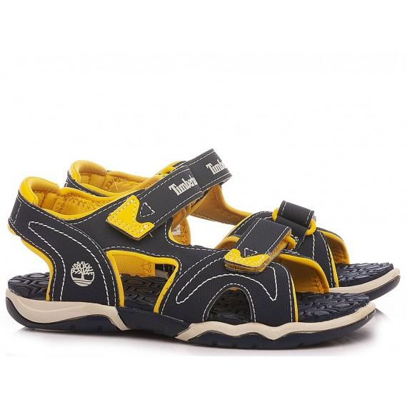 Timberland Sandali Da Bambino TB02474A 484 Navy-Yellow