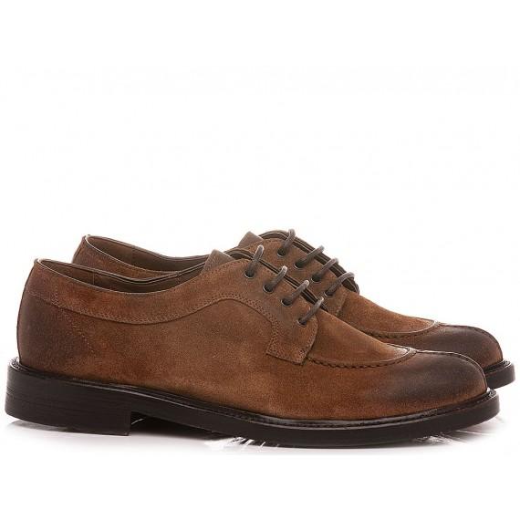 Brecos Men's Shoes  Suede Brandy 10134E21