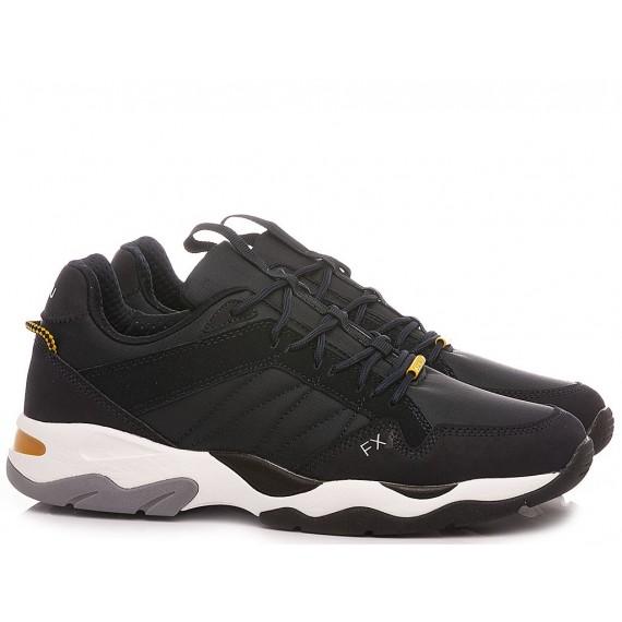 Frau Men's Sneakers Leather Navy 0801