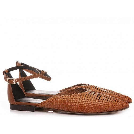 Poesie Veneziane Women's Ballerina Shoes Leather Tan MUR26Q