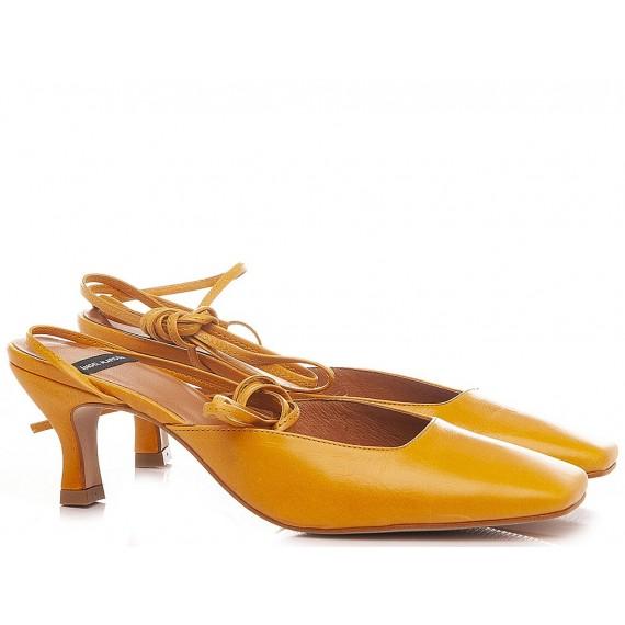 Angel Alarcon Women's Shoes Chanel Leather Ocher 21131