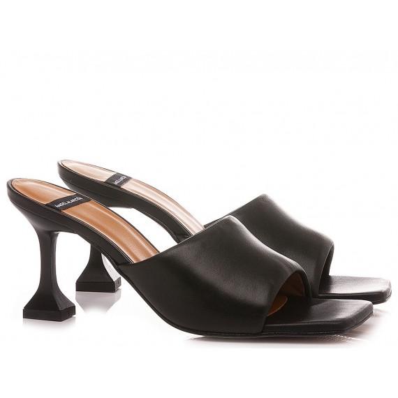 Angel Alarcon Women's Sandals Leather Black 21036