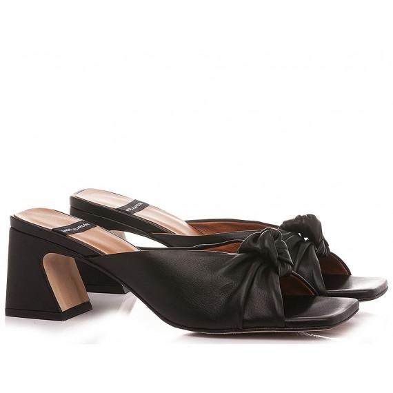 Angel Alarcon Women's Sandals Leather Black 21027