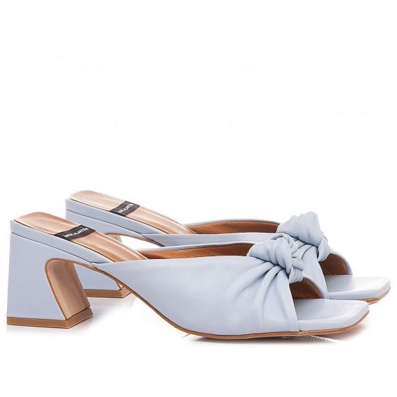 Angel Alarcon Women's Slippers Leather Light Blue 21027