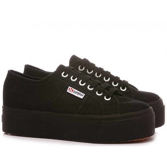 Superga Women's Sneakers 2790 COTW Linea UP And Down Black