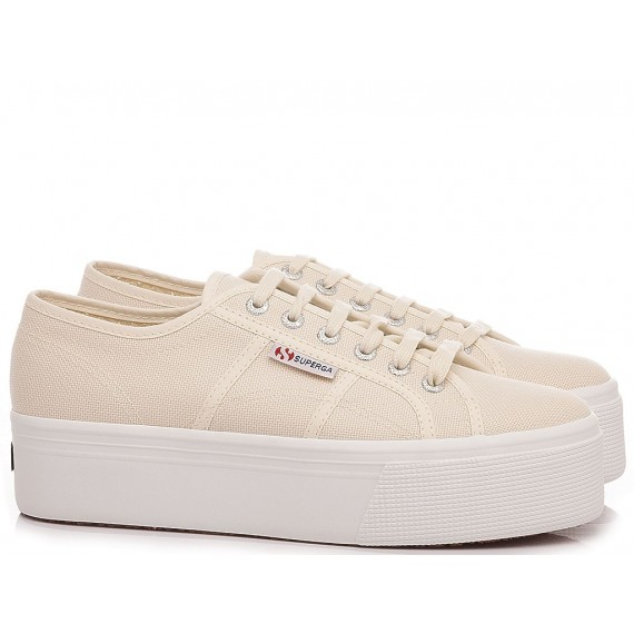 Superga Women's Sneakers 2790 COTW Linea UP And Down Beige