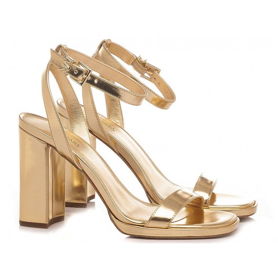 Michael Kors Women's Sandals Leather Gold