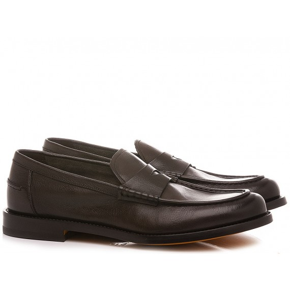 Doucal's Men's Shoes Loafers Leather Dark Brown DU2854