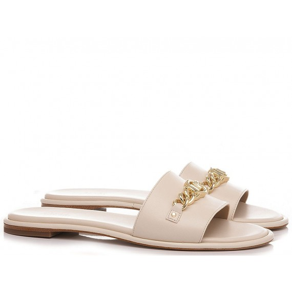 Michael Kors Women's Slippers Rina Cream