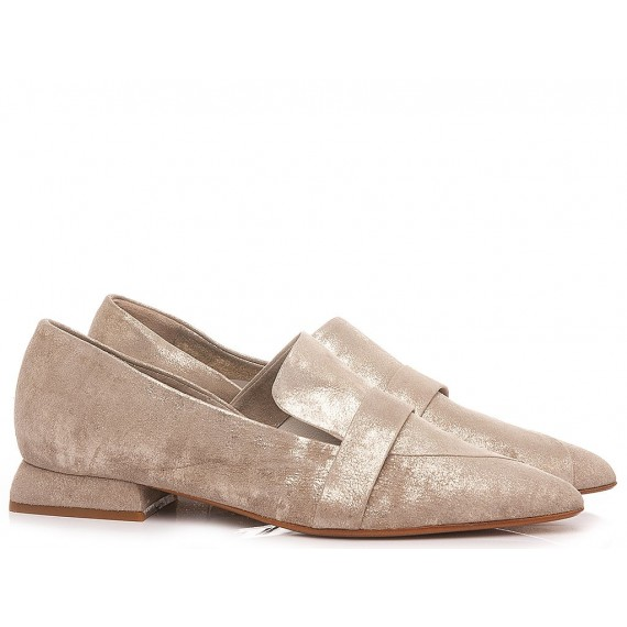 S-Donna Women's Shoes Loafers Leather Taupe