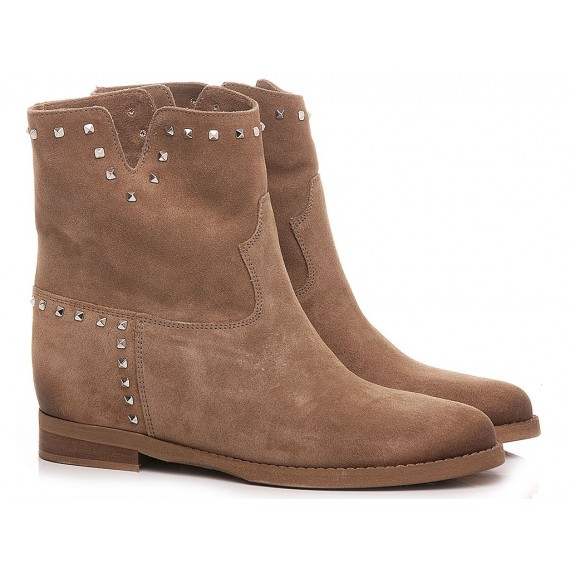 Kammi Women's Ankle Boots T51B Suede Taupe