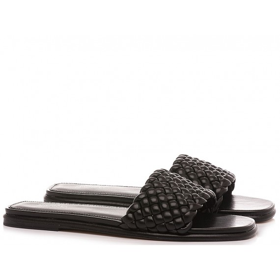 Michael Kors Women's Slippers Amelia Black