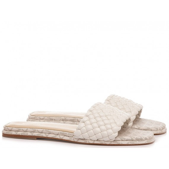 Michael Kors Women's Slippers Amelia Cream
