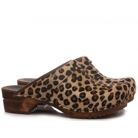 Sanita Women's Clogs Leather Animalier 1706199W