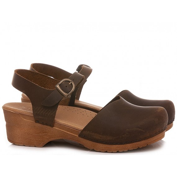 Sanita Women's Sandals Leather Brown 474048