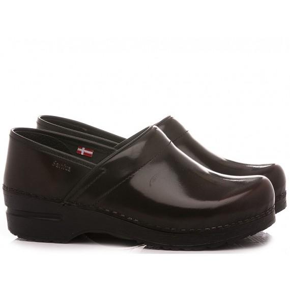 Sanita Women's Shoes Leather Black 457806W