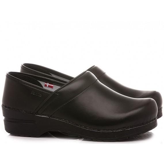Sanita Women's Shoes Leather Black 1500006W