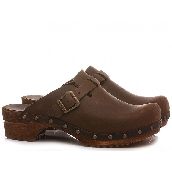 Sanita Women's Clogs Leather Brown 455205W