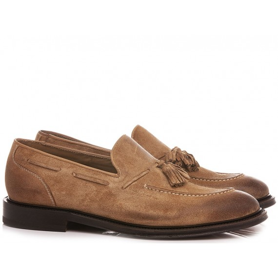 Brecos Men's Loafers Suede Tobacco 10049E21