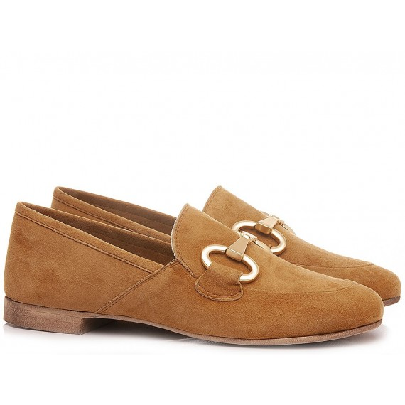 Giacko Women's Loafers Suede Camel