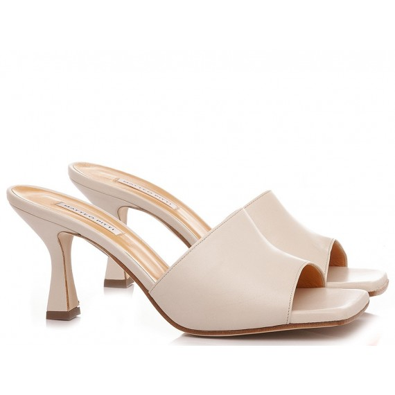 Matteo Pitti Women's Sabot Leather Cream 2922
