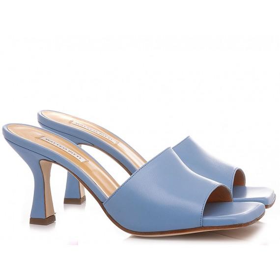 Matteo Pitti Women's Sabot Leather Sky 2922