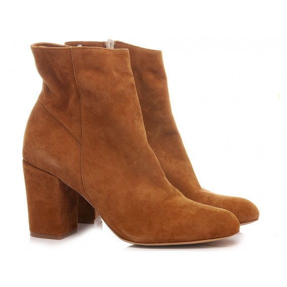 Giacko Women's Ankle Boots Suede Tan Palma80