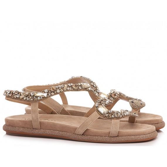 Alma En Pena Women's Sandals V21393 Suede Taupe