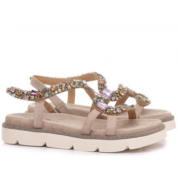 Alma En Pena Women's Sandals V21700 Suede Taupe