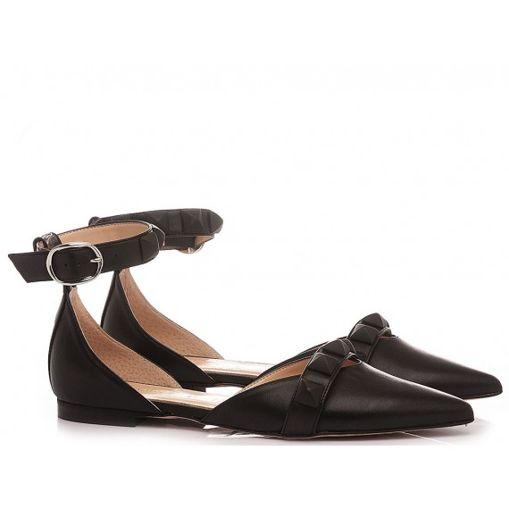 Les Autres Women's Ballerina Shoes Leather Black 1914