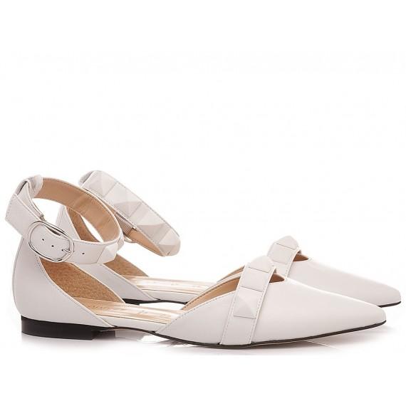 Les Autres Women's Ballerina Shoes Leather White 1914