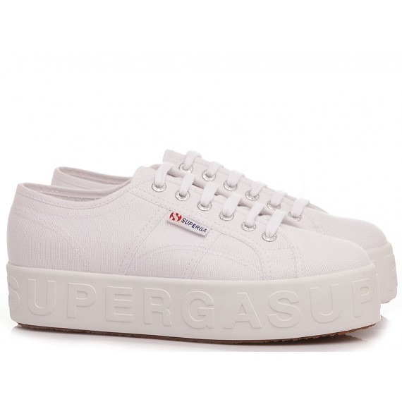 Superga Women's Sneakers 2790 3D Lettering White