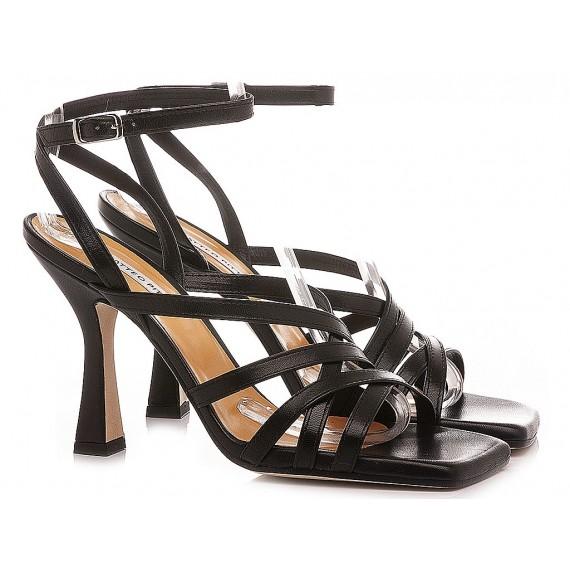 Matteo Pitti Women's Sandals Leather Black 3007